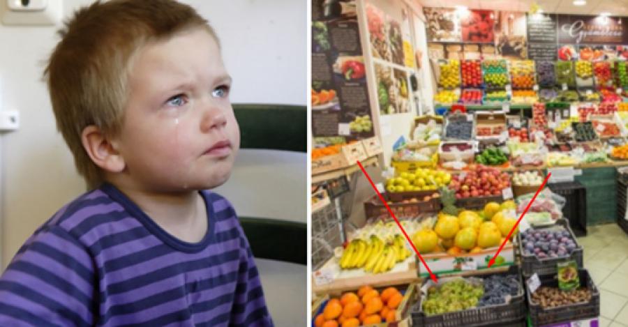 Nem találom a szavakat: felháborító amit a 2 éves kisfiammal, Bencével történt a közeli zöldségesben! És mindezt egyetlen szem szőlő miatt!