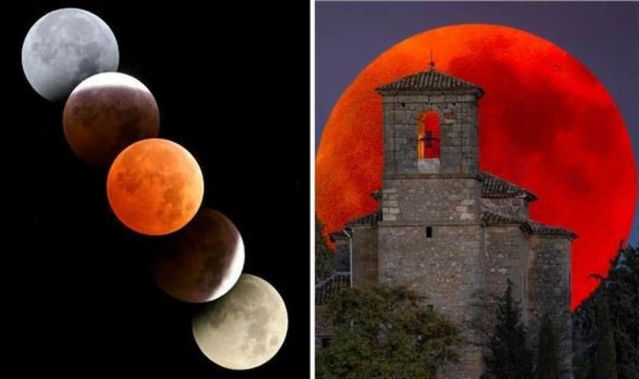 Szerdán egyszerre lesz, szuper hold, vér hold, kék hold, és holdfogyatkozás. Oszd meg, hogy minél előbb teljesüljön a kívánságod