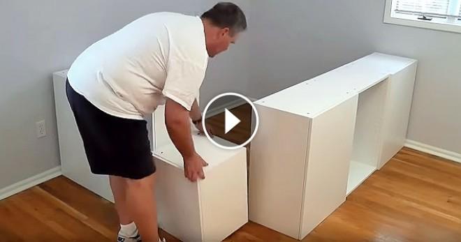 Vett néhány IKEA konyhaszekrényt, és elkészítette a világ legjobb ágyát! - VIDEÓ
