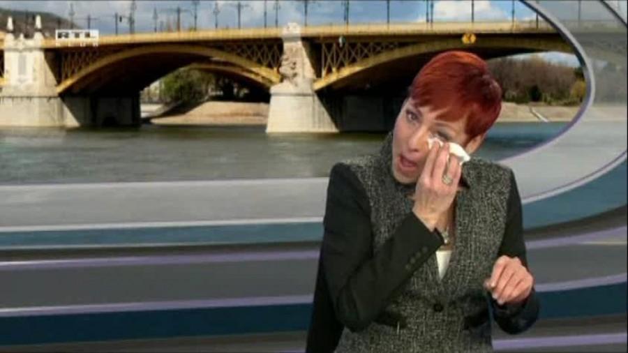 Kínos: Élő adásban kapott röhögő görcsöt a magyar műsorvezető