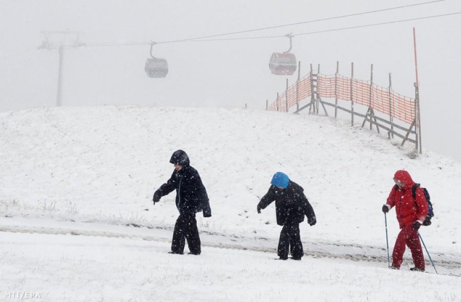 Nyakunkon a havazás, már esik is - fotók!