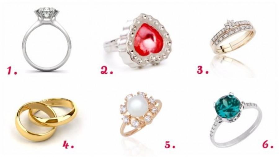 Válassz egyet a képen látható gyűrűk közül! Meglepő dolgot deríthetsz ki magadról