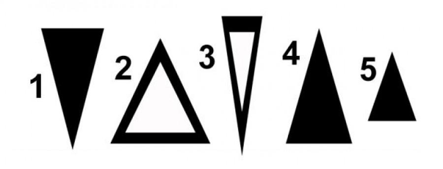 Te melyik háromszöget választod a képen láthatóak közül? Mutatjuk, mit árulja el rólad