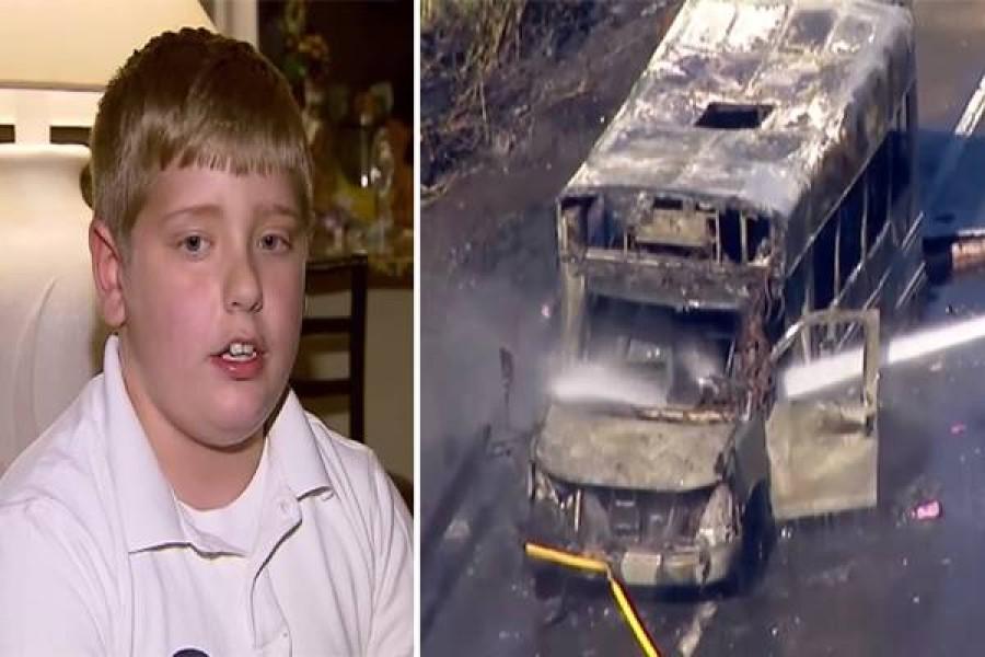 Egy 10 éves autista kisfiú mentette meg osztálytársait a kigyulladt buszból