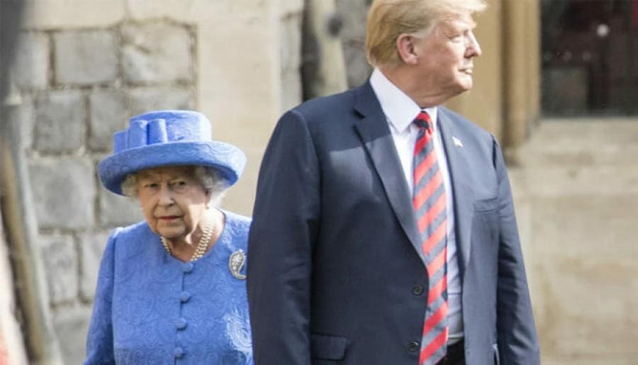 Titokban jól beolvasott II. Erzsébet királynő Trumpnak: így üzent neki
