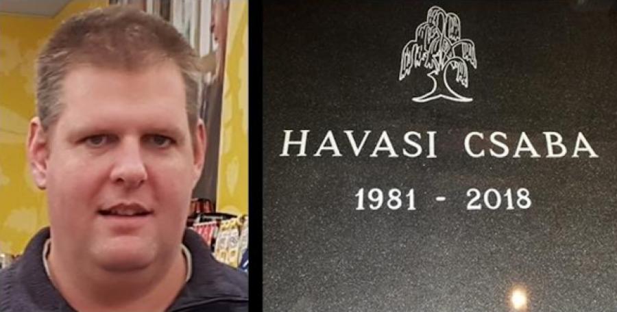 Tegnap kísérték utolsó útjára a fiatal Havasi Csaba, borászt, akivel ilyen kegyetlen módon végzett két roma férfi! Nyugodjon békében!